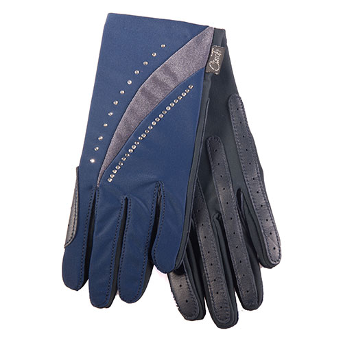 Show Pro Navy Show Pro Adult Glove Navy & Grey