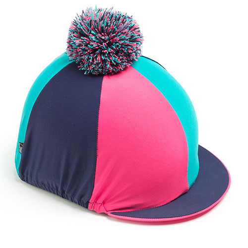 Carrots Pink/Teal/Navy Hat Cover Multi