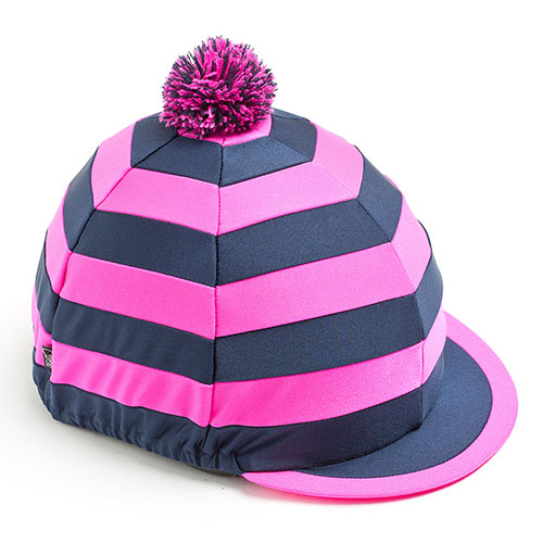 Carrots Pink/Navy Stripe Hat Cover Pink & Navy