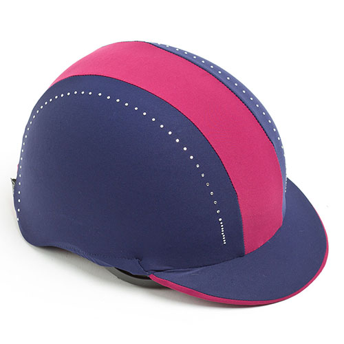 Showpro Navy and Burgundy Hat Cover