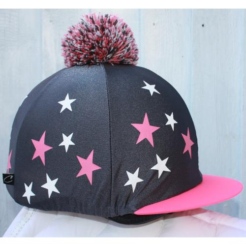 Graphite Shimmer Grey with Pink/White Stars