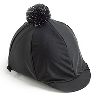 Carrots Plain Black Over Peak Hat Cover