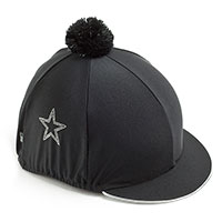 Carrots Plain Black Diamante Star Hat Cover