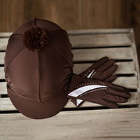 Carrots Brown Hat Cover and Glove Set (Adult)