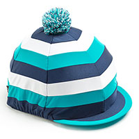 Carrots Teal/White/Navy Stripe Hat Cover