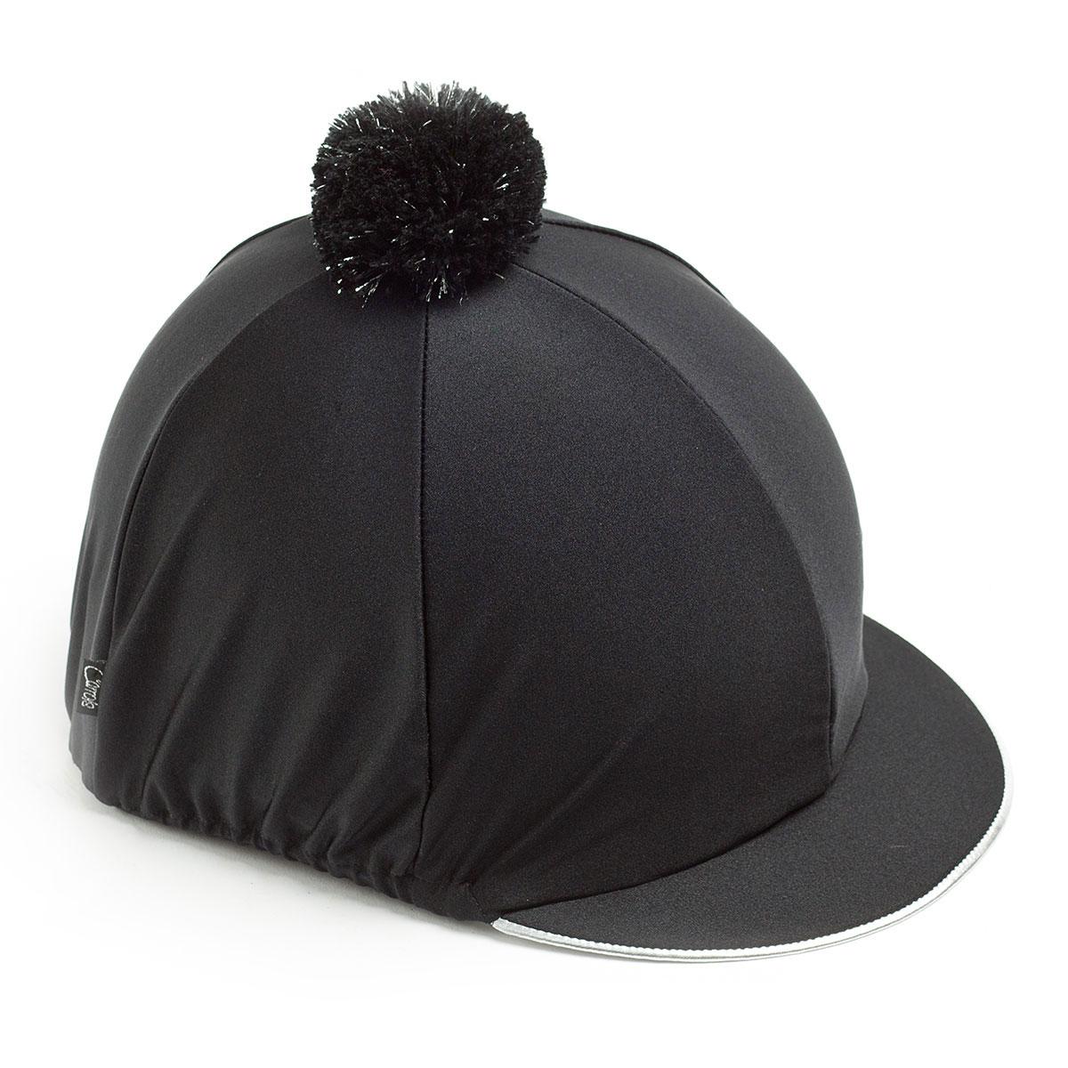 Carrots Plain Black With Silver Trim Hat Cover
